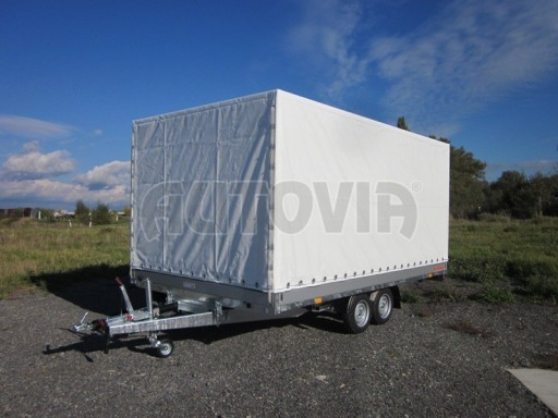 Dvouosý brzděný přívěs s hydraulicky sklopnou plochou AD speciál valník 2,7t  4,15/1,88/0,35** č.106