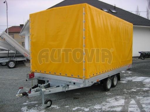 Dvouosý brzděný přívěs s hydraulicky sklopnou plochou AD speciál valník 2,7t  4,15/1,88/0,35** č.115