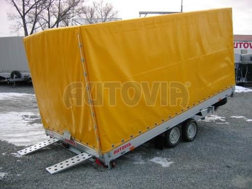 Dvouosý brzděný přívěs s hydraulicky sklopnou plochou AD speciál valník 2,7t  4,15/1,88/0,35** č.120