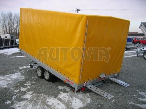 Dvouosý brzděný přívěs s hydraulicky sklopnou plochou AD speciál valník 2,7t  4,15/1,88/0,35** č.121