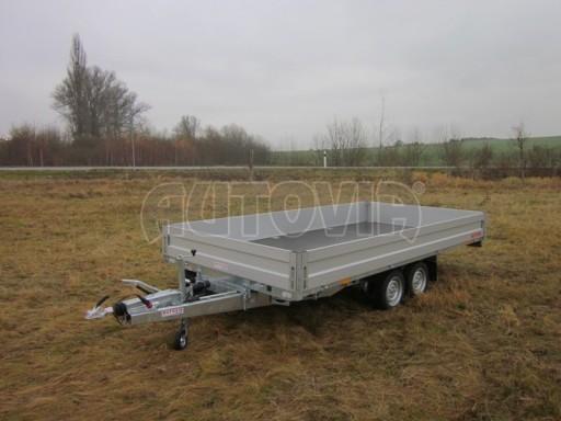 Dvouosý brzděný přívěs s hydraulicky sklopnou plochou AD speciál valník 2,7t  4,15/1,88/0,35** č.139