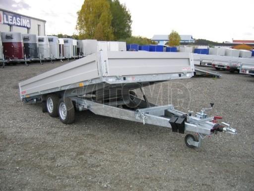 Dvouosý brzděný přívěs s hydraulicky sklopnou plochou AD speciál valník 2,7t  4,15/1,88/0,35** č.148