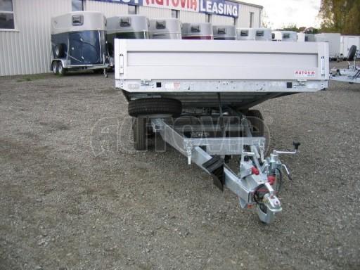 Dvouosý brzděný přívěs s hydraulicky sklopnou plochou AD speciál valník 2,7t  4,15/1,88/0,35** č.149