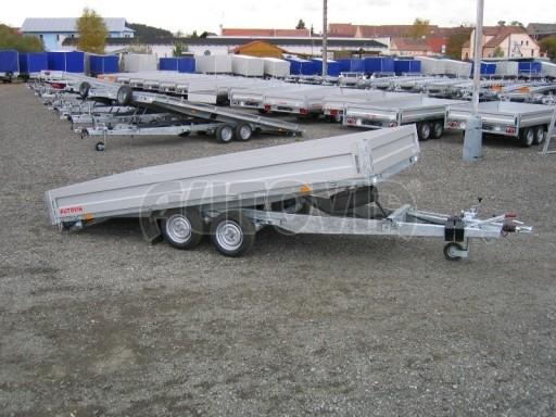Dvouosý brzděný přívěs s hydraulicky sklopnou plochou AD speciál valník 2,7t  4,15/1,88/0,35** č.151