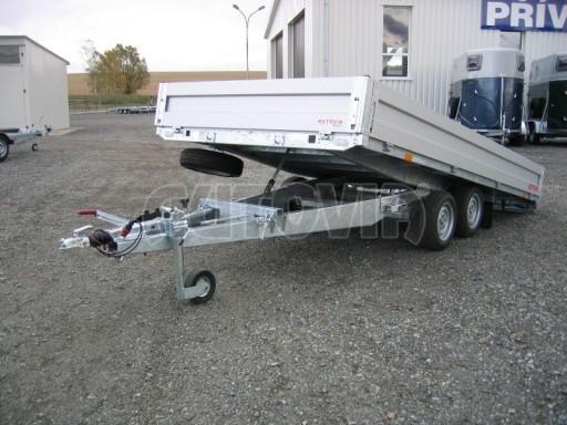 Dvouosý brzděný přívěs s hydraulicky sklopnou plochou AD speciál valník 2,7t  4,15/1,88/0,35** č.152