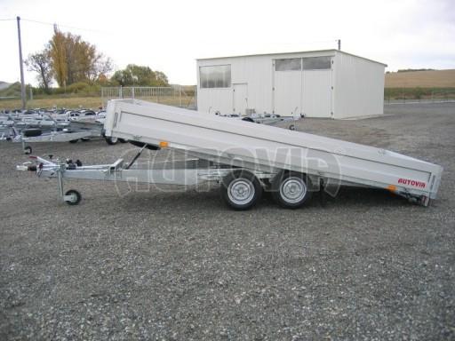 Dvouosý brzděný přívěs s hydraulicky sklopnou plochou AD speciál valník 2,7t  4,15/1,88/0,35** č.154