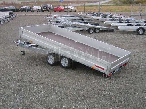 Dvouosý brzděný přívěs s hydraulicky sklopnou plochou AD speciál valník 2,7t  4,15/1,88/0,35** č.155