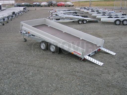 Dvouosý brzděný přívěs s hydraulicky sklopnou plochou AD speciál valník 2,7t  4,15/1,88/0,35** č.157