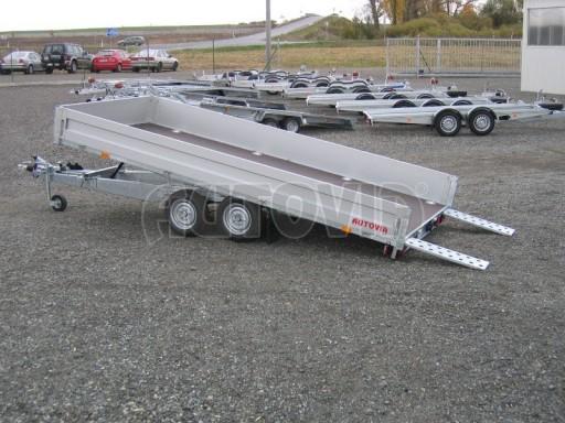 Dvouosý brzděný přívěs s hydraulicky sklopnou plochou AD speciál valník 2,7t  4,15/1,88/0,35** č.158