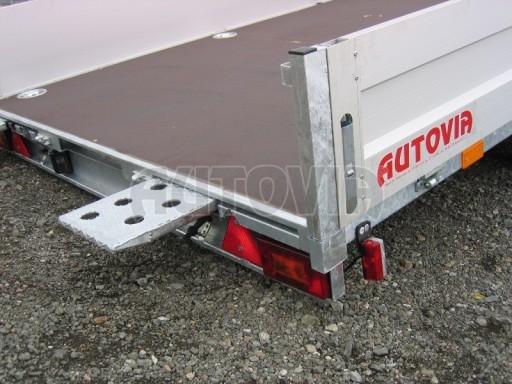 Dvouosý brzděný přívěs s hydraulicky sklopnou plochou AD speciál valník 2,7t  4,15/1,88/0,35** č.159