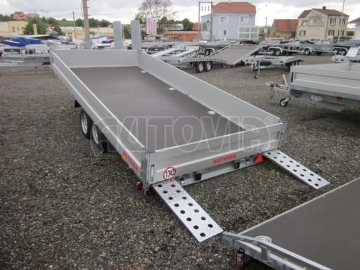 Dvouosý brzděný přívěs s hydraulicky sklopnou plochou AD speciál valník 2,7t  4,15/1,88/0,35** č.172