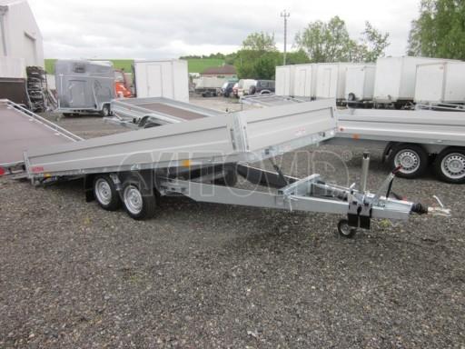 Dvouosý brzděný přívěs s hydraulicky sklopnou plochou AD speciál valník 2,7t  4,15/1,88/0,35** č.174