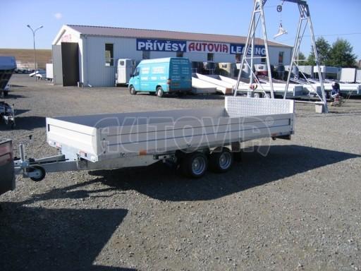 Dvouosý brzděný přívěs s hydraulicky sklopnou plochou AD speciál valník 2,7t  4,15/1,88/0,35** č.175