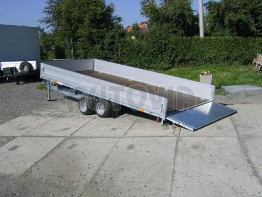 Dvouosý brzděný přívěs s hydraulicky sklopnou plochou AD speciál valník 2,7t  4,15/1,88/0,35** č.176