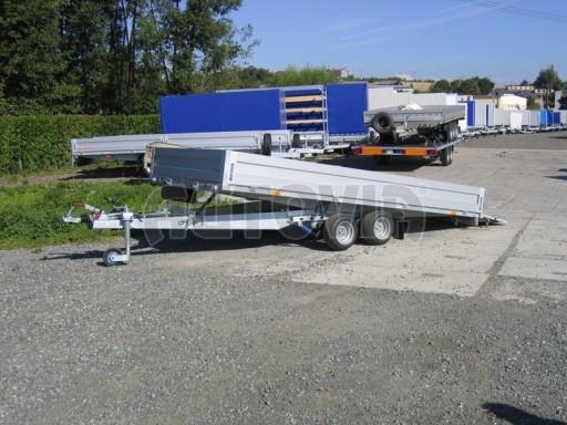 Dvouosý brzděný přívěs s hydraulicky sklopnou plochou AD speciál valník 2,7t  4,15/1,88/0,35** č.178