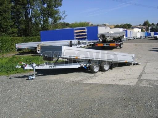 Dvouosý brzděný přívěs s hydraulicky sklopnou plochou AD speciál valník 2,7t  4,15/1,88/0,35** č.179
