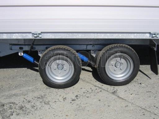 Dvouosý brzděný přívěs s hydraulicky sklopnou plochou AD speciál valník 2,7t  4,15/1,88/0,35** č.180