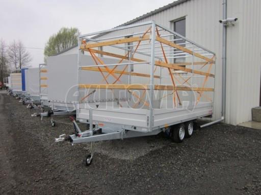 Dvouosý brzděný přívěs s hydraulicky sklopnou plochou AD speciál valník 2,7t  4,15/1,88/0,35** č.192