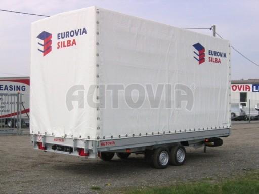 Dvouosý brzděný přívěs s hydraulicky sklopnou plochou AD speciál valník 2,7t  4,15/1,88/0,35** č.206