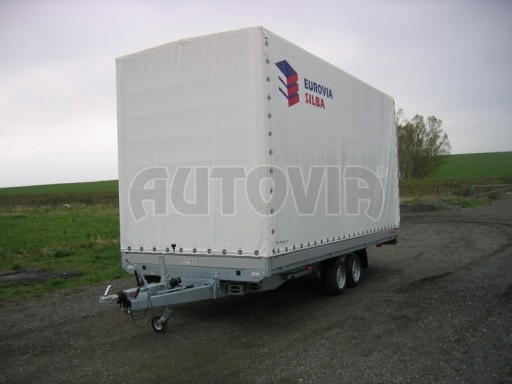 Dvouosý brzděný přívěs s hydraulicky sklopnou plochou AD speciál valník 2,7t  4,15/1,88/0,35** č.211