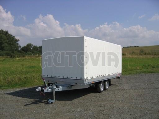 Dvouosý brzděný přívěs s hydraulicky sklopnou plochou AD speciál valník 2,7t  4,15/1,88/0,35** č.215