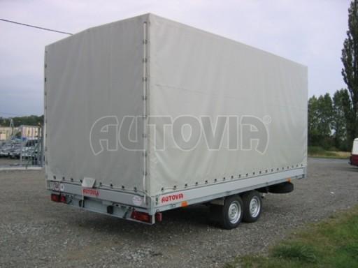Dvouosý brzděný přívěs s hydraulicky sklopnou plochou AD speciál valník 2,7t  4,15/1,88/0,35** č.223