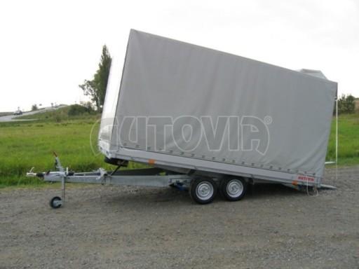 Dvouosý brzděný přívěs s hydraulicky sklopnou plochou AD speciál valník 2,7t  4,15/1,88/0,35** č.224