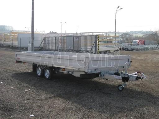 Dvouosý brzděný přívěs s hydraulicky sklopnou plochou AD speciál valník 2,7t  4,15/1,88/0,35** č.227
