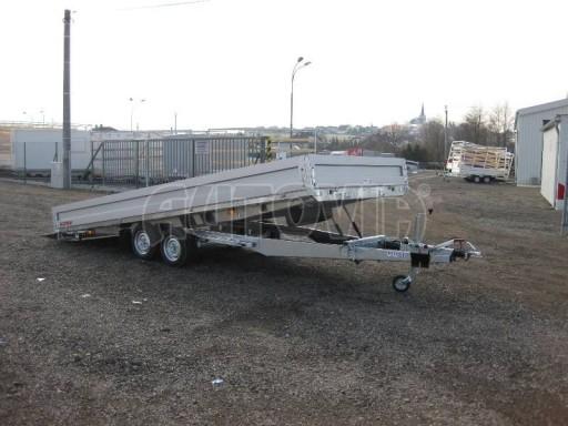 Dvouosý brzděný přívěs s hydraulicky sklopnou plochou AD speciál valník 2,7t  4,15/1,88/0,35** č.235