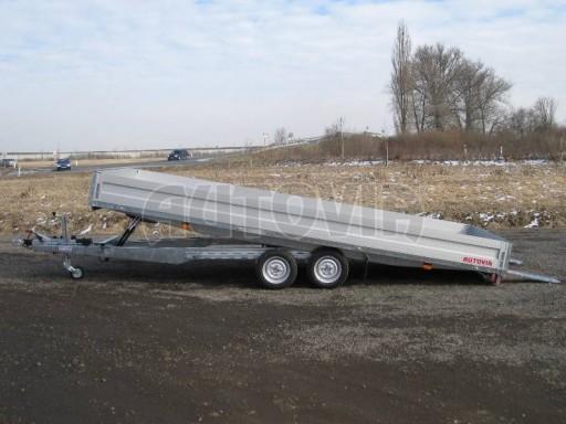 Dvouosý brzděný přívěs s hydraulicky sklopnou plochou AD speciál valník 2,7t  4,15/1,88/0,35** č.240
