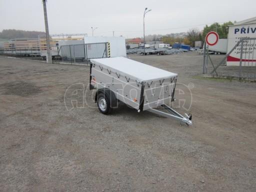 Nebrzděný přívěsný vozík s masivní V ojí ZV 3 ALU 2,06x1,10/0,70 nástavba plachta** č.1