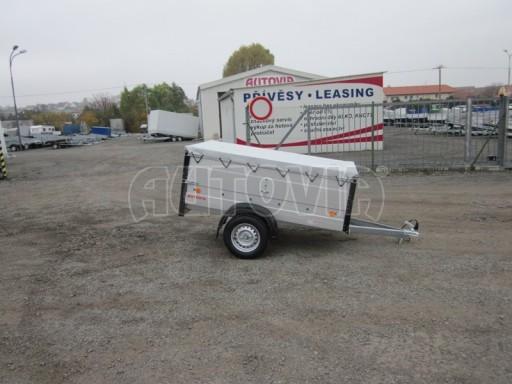 Nebrzděný přívěsný vozík s masivní V ojí ZV 3 ALU 2,06x1,10/0,70 nástavba plachta** č.2