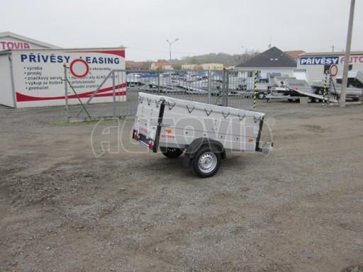 Nebrzděný přívěsný vozík s masivní V ojí ZV 3 ALU 2,06x1,10/0,70 nástavba plachta** č.4