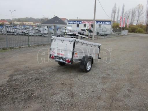 Nebrzděný přívěsný vozík s masivní V ojí ZV 3 ALU 2,06x1,10/0,70 nástavba plachta** č.5