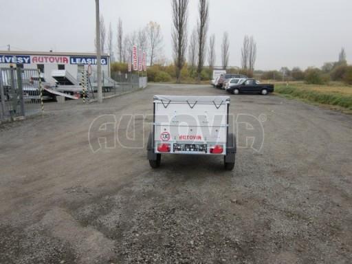 Nebrzděný přívěsný vozík s masivní V ojí ZV 3 ALU 2,06x1,10/0,70 nástavba plachta** č.6