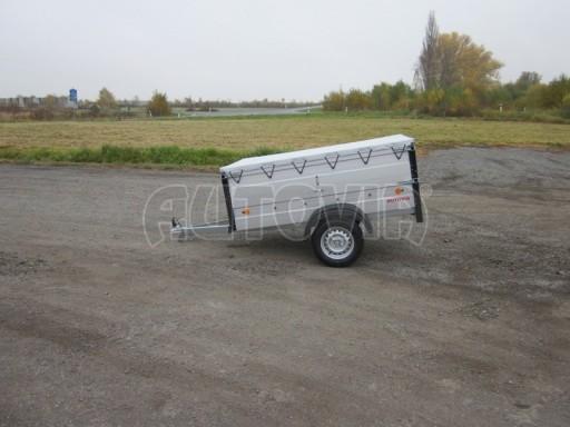 Nebrzděný přívěsný vozík s masivní V ojí ZV 3 ALU 2,06x1,10/0,70 nástavba plachta** č.7