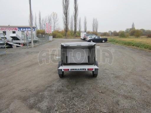 Nebrzděný přívěsný vozík s masivní V ojí ZV 3 ALU 2,06x1,10/0,70 nástavba plachta** č.3