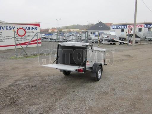 Nebrzděný přívěsný vozík s masivní V ojí ZV 3 ALU 2,06x1,10/0,70 nástavba plachta** č.9