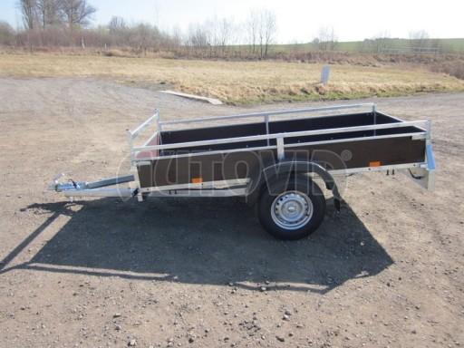 Nebrzděný jednoosý PROFI přívěs VA 750kg 2,53x1,48/0,30 RE POČ zes. náprava* č.1