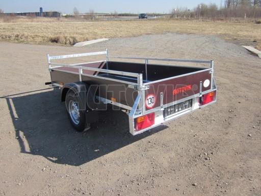 Nebrzděný jednoosý PROFI přívěs VA 750kg 2,53x1,48/0,30 RE POČ zes. náprava* č.3