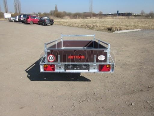 Nebrzděný jednoosý PROFI přívěs VA 750kg 2,53x1,48/0,30 RE POČ zes. náprava* č.4