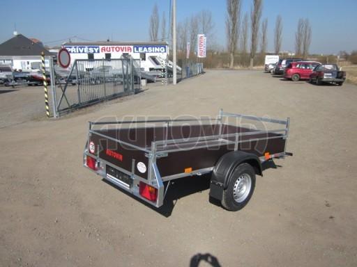 Nebrzděný jednoosý PROFI přívěs VA 750kg 2,53x1,48/0,30 RE POČ zes. náprava* č.5