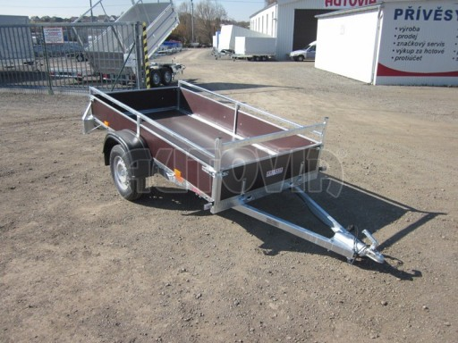 Nebrzděný jednoosý PROFI přívěs VA 750kg 2,53x1,48/0,30 RE POČ zes. náprava* č.8