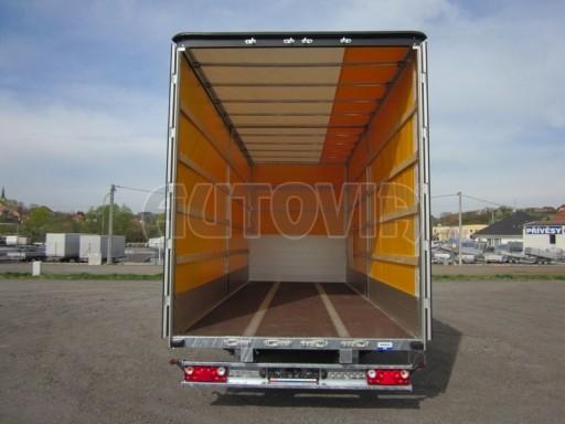Jednonápravový 18-ti paletový vzduchem brzděný nákladní přívěs AVG 10t 7,40/2,48/3,06 č.13