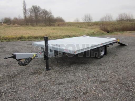Vzduchem brzděné jednoosé plato bez bočnic AVG 5,6T 4,00/2,48 trakt. 40km č.2