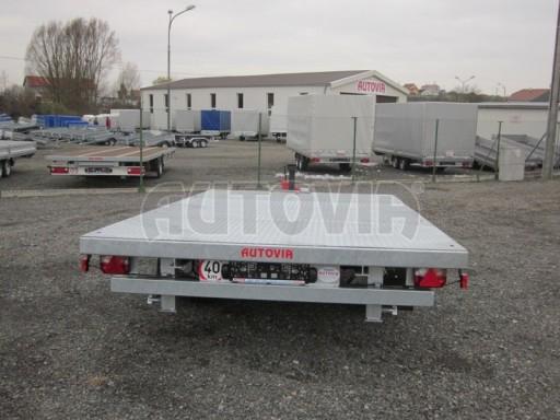 Vzduchem brzděné jednoosé plato bez bočnic AVG 5,6T 4,00/2,48 trakt. 40km č.9