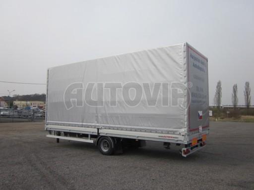 Jednonápravový 18-ti paletový vzduchem brzděný nákladní přívěs AVG 10t 7,37/2,48/3,06 č.2