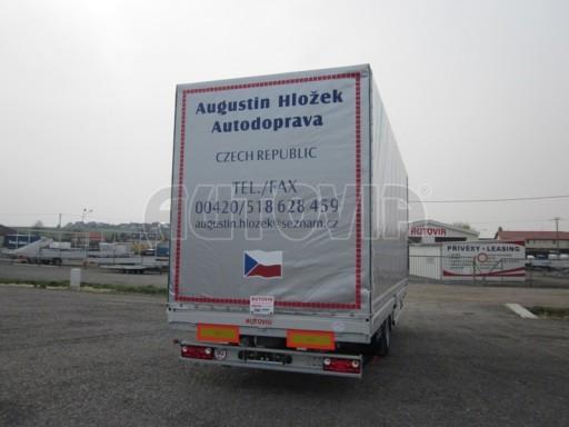Jednonápravový 18-ti paletový vzduchem brzděný nákladní přívěs AVG 10t 7,37/2,48/3,06 č.5