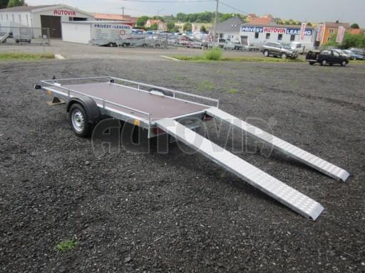 Jednoosý nebrzděný nákladní přívěs AMS 750kg 3,02x1,60 - plato** č.1