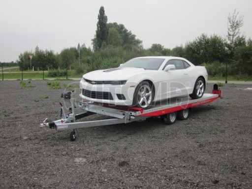 Přívěs pro přepravu sportovních automobilů IM 2,7T 5,01x2,09 dvouč. č.1